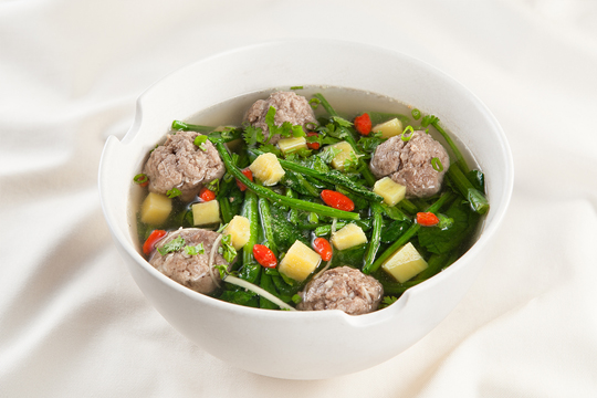 Những món ăn ngon từ cải bó xôi