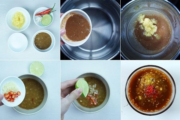 Cách làm nước chấm bò nướng lá lốt