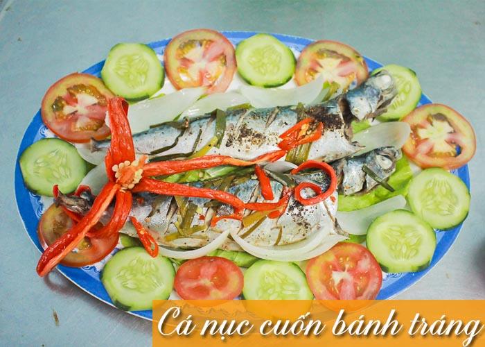 cách làm cá nục cuốn bánh tráng