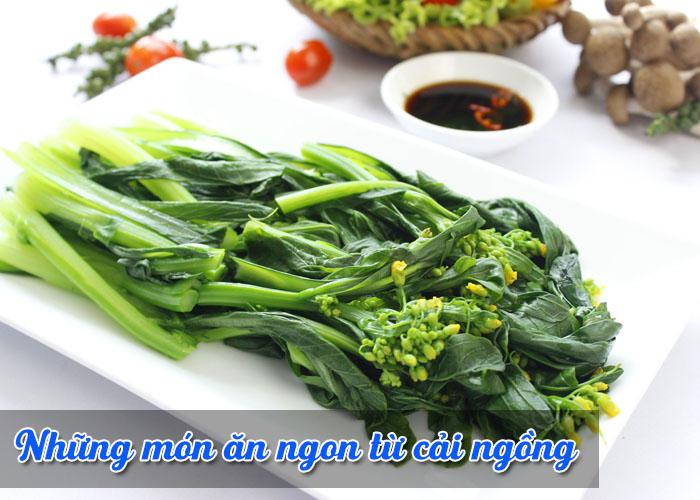 các món ăn ngon từ cải ngồng
