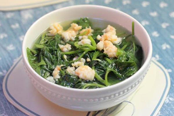 Cách làm món canh rau lang nấu tôm